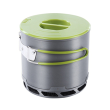 NEW Outdoor Portable Tableware Camping Hiking Traveling Cookware Cooking Picnic Non-stick Bowl Pot L2