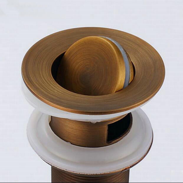 NEW Antique Brass Bathroom basin Sink Pop Up Drain bathroom parts ...