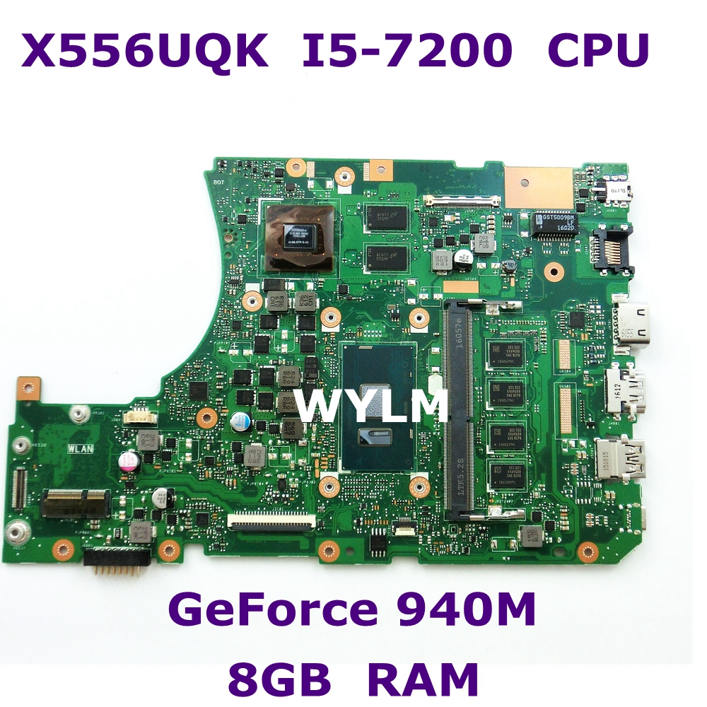X556UQK MB._8G/I5-7200U/AS V2G Mainboard REV 3.1 90NB0BH0-R00120 For ASUS X556UV X556U X556UQK X556UQ Laptop Motherboard Test Ok