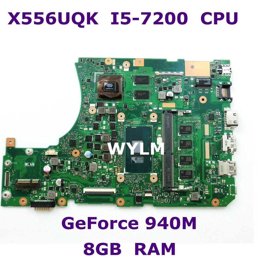X556UQK MB. _ 8G/I5-7200U/COMME V2G carte mère REV 3.1 90NB0BH0-R00120 Pour ASUS X556UV X556U X556UQK X556UQ mère d'ordinateur portable test ok
