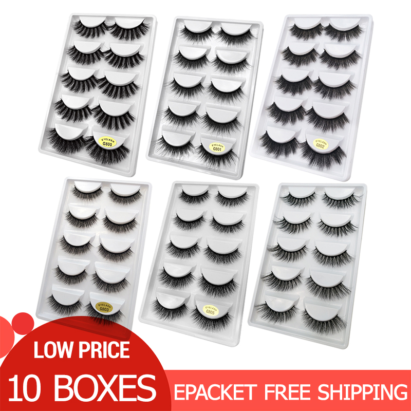 50 Pairs Wholesale Eyelashes Natural Mink Eyelashes False Eye Lashes Mink Lashes Fake Eyelash Extensions Maquiagem Faux Cils