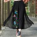 Spring Autumn High Waist Plus Size Wide Leg Palazzo Pants Women Fashion Cotton Linen Temperament Trousers Flared Pants