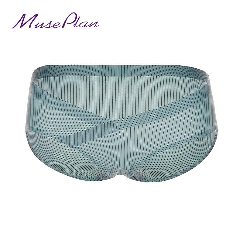 Free shipping Ladies underwear Seamless Mid-Rise briefs ruffles sexy panites cotton Breathable underwear women