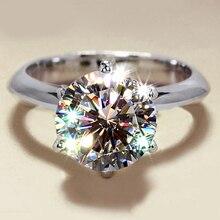 Bijou de luxe en argent Sterling nouveauté, coupé rond, avec anneaux, pierres 5A CZ, mariage, fête, cadeau pour femmes, taille 4 10, 925