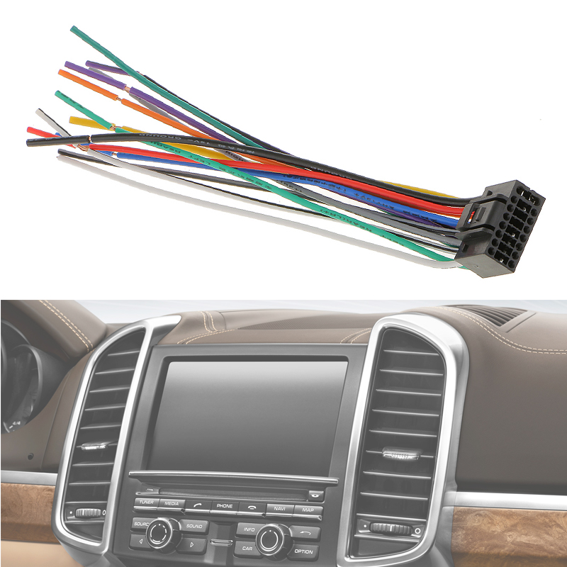 Image 3 - 1 Pcs 16cm Car Radio Stereo Wire Harness Plug Cable With 16 Pin Connector For Kenwood Meets EIA Color Codes-in Cables, Adapters & Sockets from Automobiles & Motorcycles