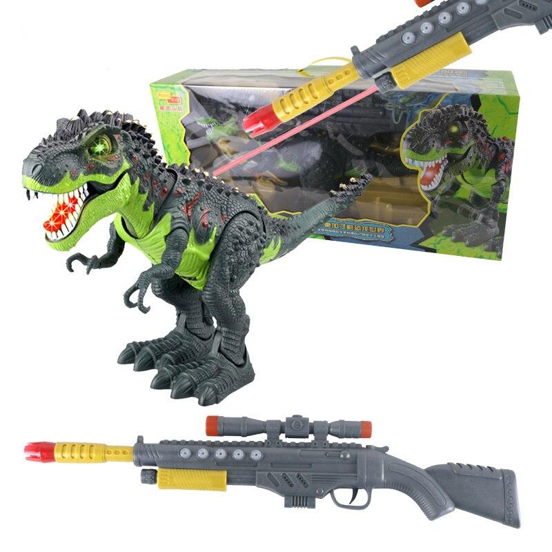 [TOP] monde Jurassique Sniper fusil infrarouge télécommande RC flash et son T-Rex figurine utiliser pistolet RC le dinosaure déménagement jouet