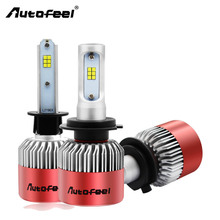 Autofeel H1 H4 H7 Automobiles Ampoule Led Voiture Headlights Bulb 9005 9006 9007 H11 H13 LED Car Styling Headlamp 12V 84W 8000LM