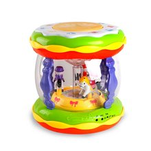 Early Childhood Education Puzzle Carousel Music Hand Drums Rechargeable Mp3 Microphone Story Machine