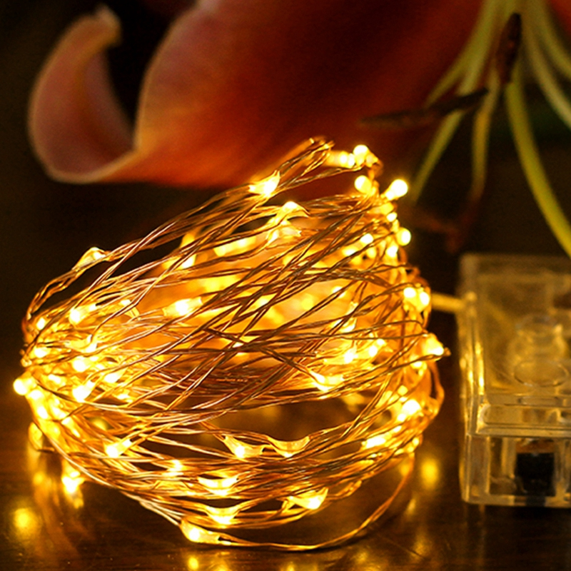2M 3M 4M 5M 10M Copper Silver Wire LED String lights Waterproof Outdoor Holiday Fairy Christmas Tree Wedding Party Decoration