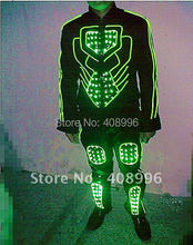 LED illuminated robot suit for evening party/carnival/stage performance