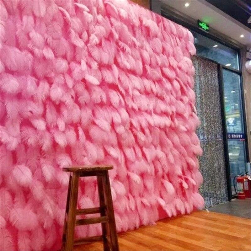 100 Pcs/lot moelleux doux autruche plumes rose plume pour artisanat autruche plumes mariage fête décoration 10-15cm GPD8741