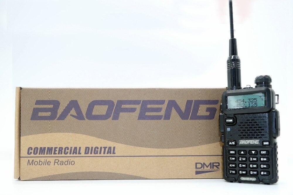 2 pcs Baofeng DM-5R Plus Portable Radio VHF UHF Double Bande Numérique DMR Analogique double mode 5 w 128CH Talkie-walkie taklie DM5R + Émetteur-Récepteur