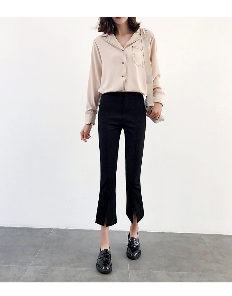 High-waisted Flare Pants Women 2018 Summer New Hot Fashion Female Casual Loose Ankle-length Pants Trousers Bottoms 11