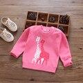 Детская одежда осень ребенок свитер женский 100% хлопок детские пуловеры свитер весной и осенью мультфильм все-матч одежда