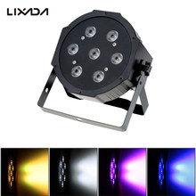 Lixada Party Stage Light Show 70W Sound Active Dmx-512 Rgb Led Stage Light Par Strobe 5/8 Channel Dj Laser Ball Beam Disco Light(China)