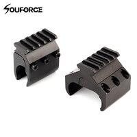 Taktische Einzel/Doppel Rohr Shotgun Picatinny Schiene Adapter für 20mm Schiene Jagd Zubehör