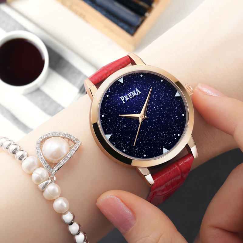 цены PREMA Fashion Watches relogio feminino 2018 Women Star brand Rose Gold Ladies Wrist Bracelet Female Clock quartz Wrist Watch