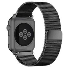 Pulsera Milanese Loop para apple watch banda 4 44mm 40mm correa apple watch 42mm 38mm pulsera de acero inoxidable pulsera de correa iwatch 4/3/2/1(China)