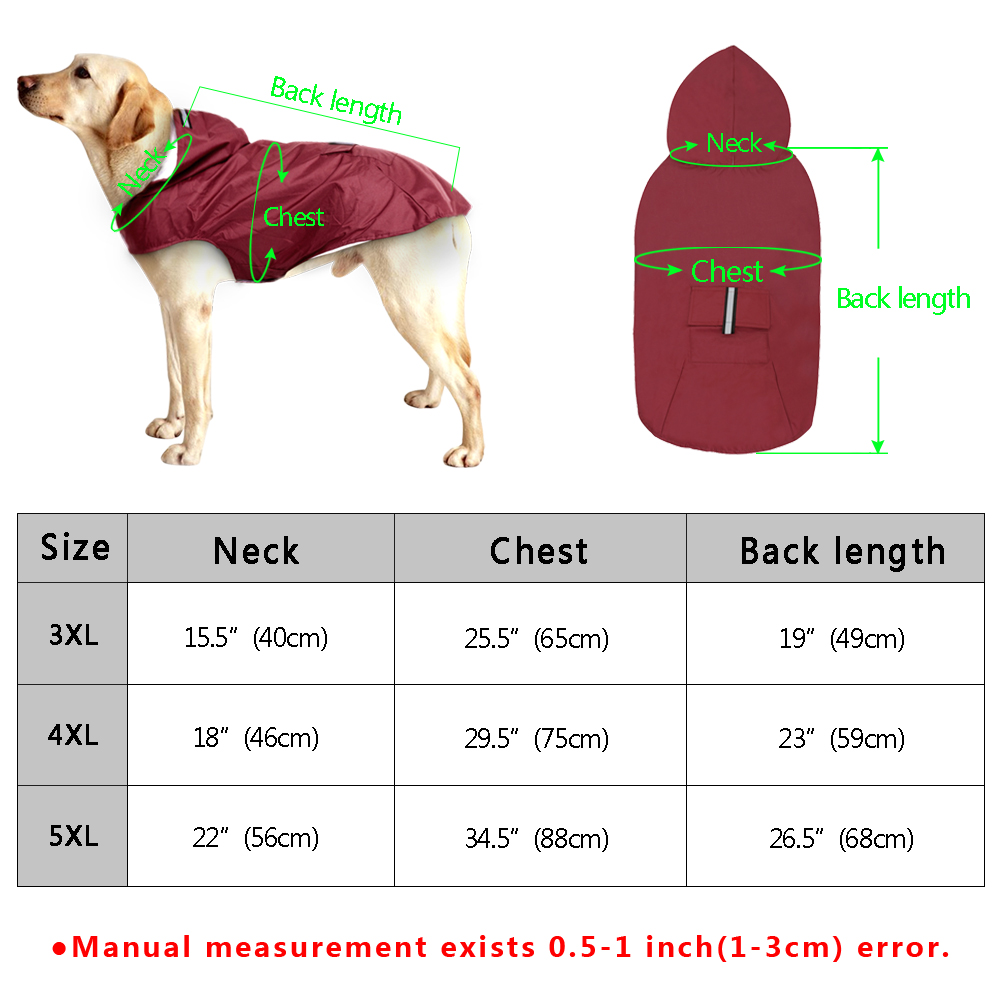 Big Dogs Clothes Online Size Chart Waterproof Jacket
