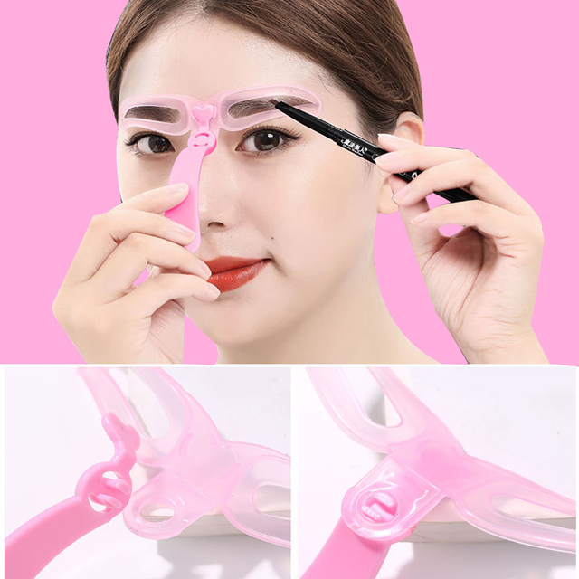 4Pcs/Set Professional Makeup Eyebrow Stencil Beauty Eyebrow Shaping Template Tools Woman Eyebrow Stencils Makeup Accessories 2