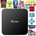 TX5 PRO Android 6.0 TV Box Amlogic S905X Quad Core 64bit 2GB / 16GB KODI 16.1 XBMC UHD 4K H.265 2.4G/5G WiFi BT4.0 Smart TV Box
