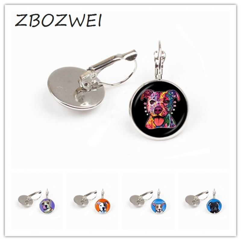 ZBOZWEI 2018 Pit Bull Dog earring American Pitbull Terrier Pet Puppy Rescue earring Bulldog Jewelry for Animal Lover Accessories