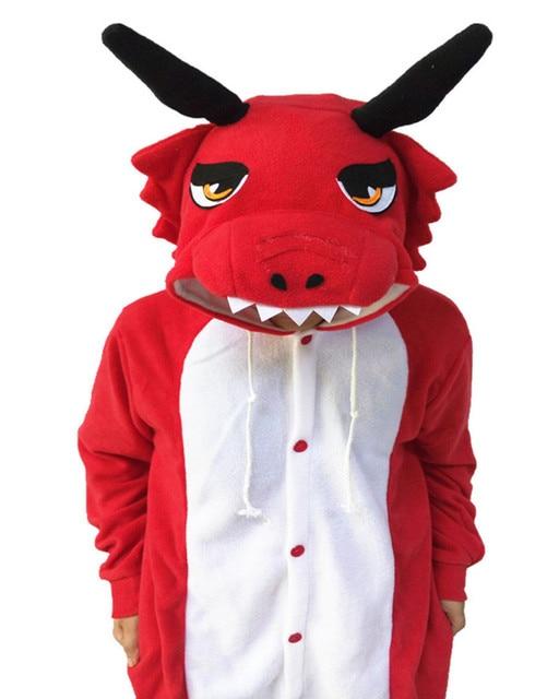 Adult Red Dragon Onesie Cosplay Costume Pajamas Sleepwear For Women ... a1c1dfe4b