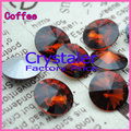 100 unids/lote Café COLOR 8 MM 10 MM 12 MM 14mm 16mm 18mm 20mm Chino Superior Quality Ronda Fancy Stone Beads Rivoli Cristal