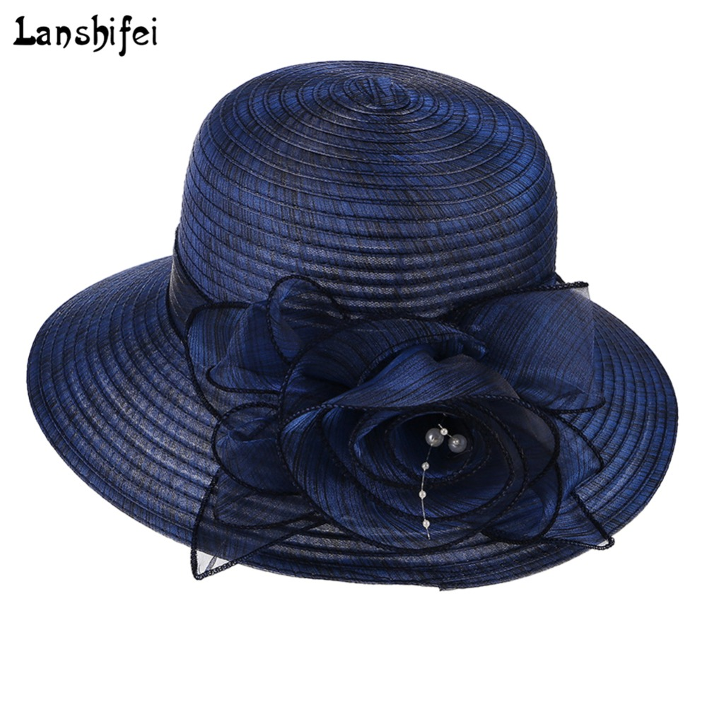 Fashion Mother Daughter Hat Lady Wide Large Brim Floppy Hats Silk Collapsible Fisherman Hat Women's Korean Style Flower Cool Cap