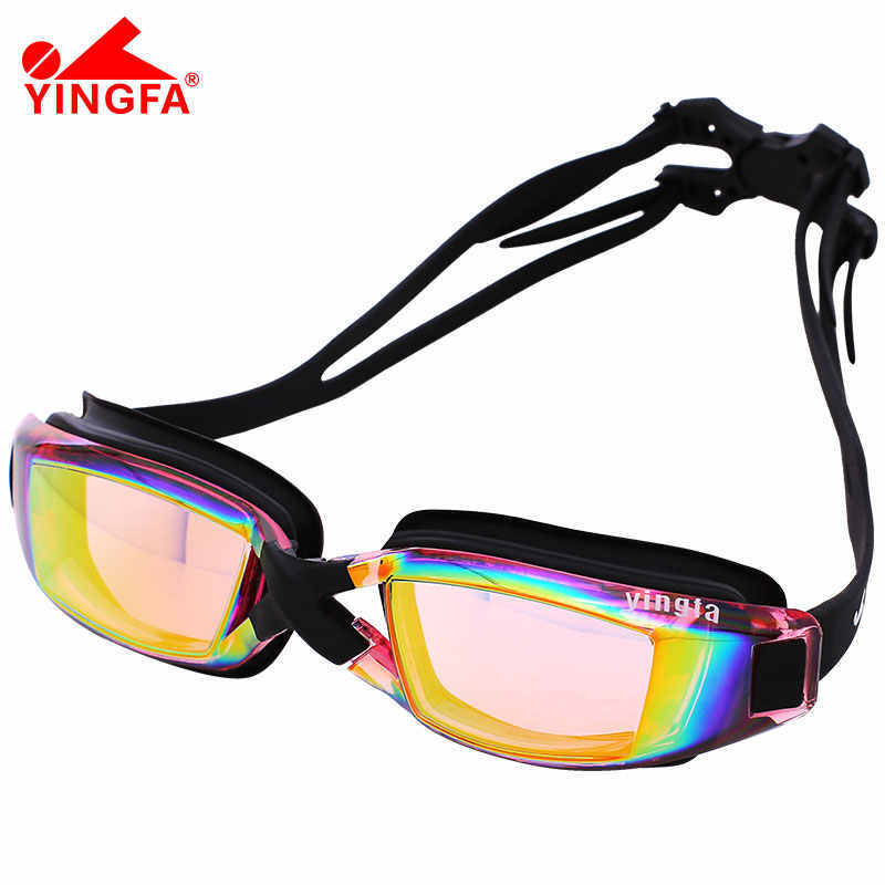Yingfa Professional Silicone Large Frame Swimming Goggles Anti-fog UV Swimming Glasses for Men Women Diving Sports Eyewear