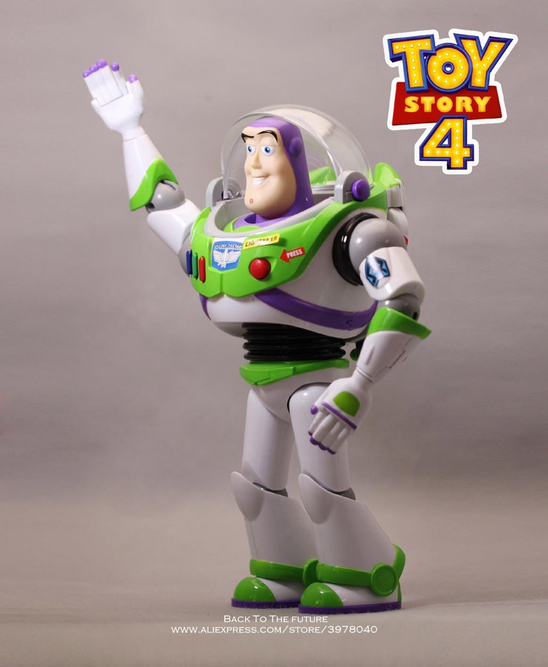 Image 3 - Disney Toy Story 4 Buzz Lightyear Talking figure 30cm PVC Action Figures mini Dolls Kids Toy model for Children giftAction & Toy Figures   -