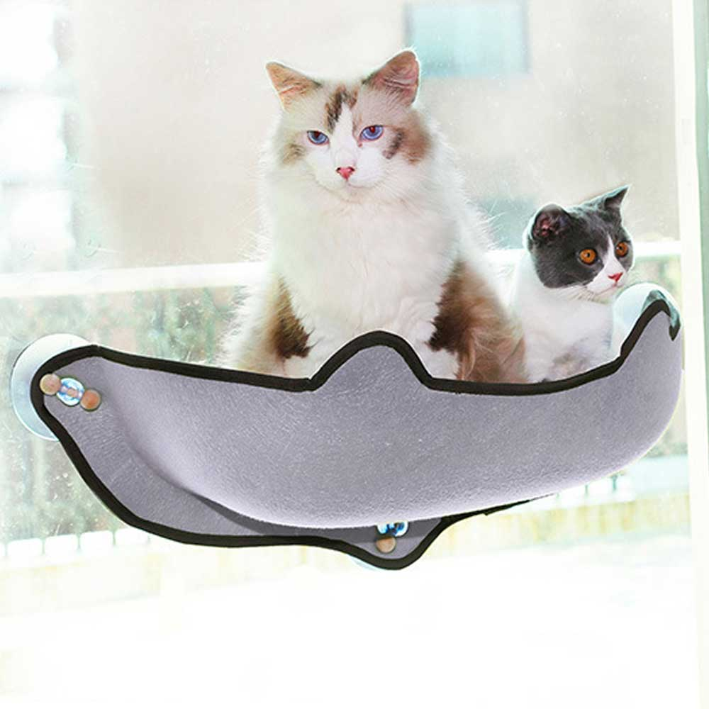 14pcs/set  Cat Hammock Bed Mount Window Pod Lounger Suction Cups Warm Bed For Pet Cat Rest House Sun Wall Bed Soft Ferret Cage #5