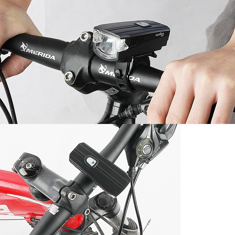 Bicycle Light Led Cycling Front Light Bike Light Lamp Torch Supfire Rechargeable Waterproof Flashlight 385 Lumen Bicycle Speaker