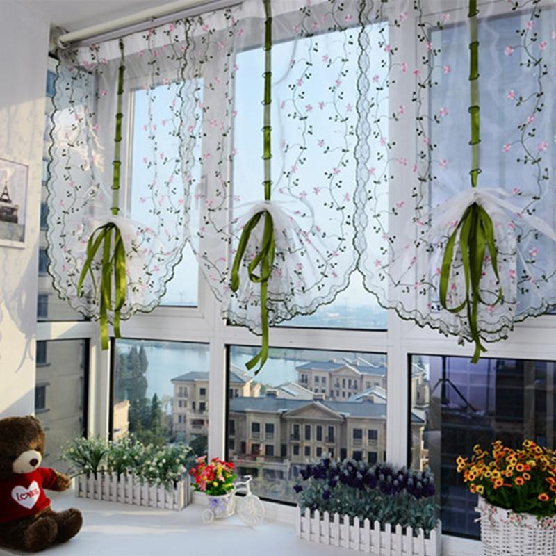 Hot Sale Pastoral Fresh Curtain Bedroom Bathroom Decoration Lift - Roman blind bathroom