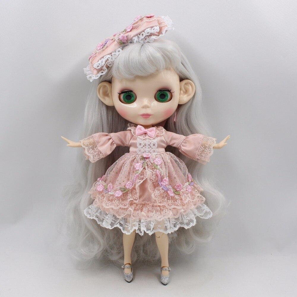 Neo Blythe Doll Princess Pink Flower Dress 4