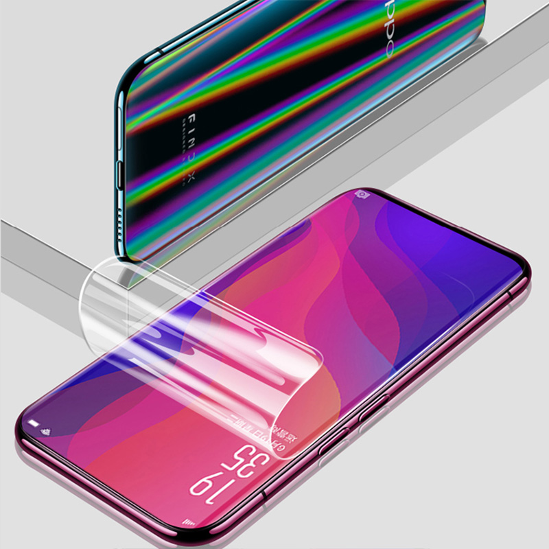 BFOLLOW 5D Screen Protector for OPPO Find X / R15 R15 PRO / R17 R17 PRO Soft Front Film Aurora Back Full Coverage