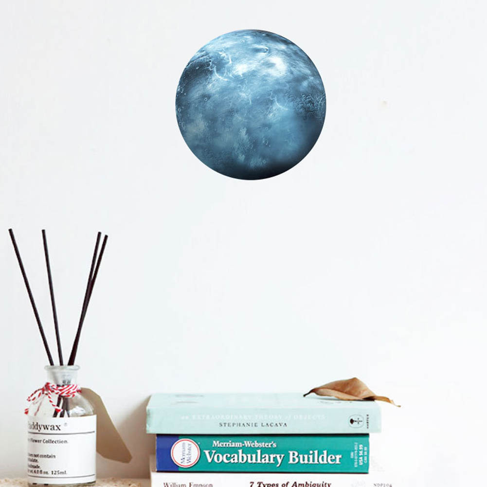 Fashion Wall Sticker 30cm Light Wall Stickers Moon Luminous Moon 7 Color Sticker High Quality FP8 MY1718