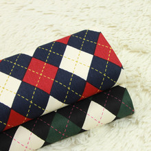 Pure Cotton Twill Fabric Geometric Patterns Plaid Printing Patchwork Sewing Quilting Material Crafts Various Sizes