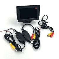 3 In 1 2 4G Wireless Parking Assistance 4 LED Night Vision Reversing Car Rear View
