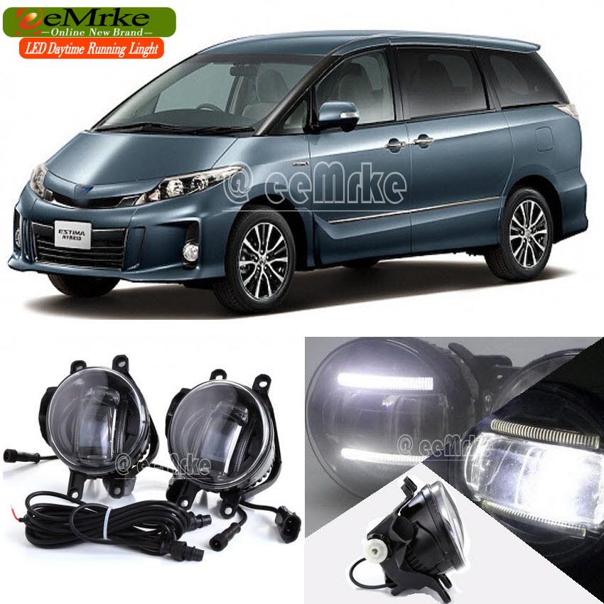 eeMrke Car Styling For Ford Ranger 2012 - up 2 in 1 LED Fog Light Lamp DRL With Lens Daytime Running Lights