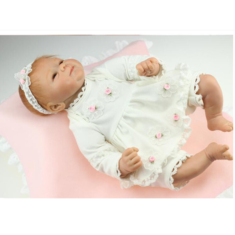Vivid Silicone Reborn Baby Dolls wiht Clothes, 16 Lifelike Baby Reborn Doll Toys for Children Christmas Gift short curl hair lifelike reborn toddler dolls with 20inch baby doll clothes hot welcome lifelike baby dolls for children as gift