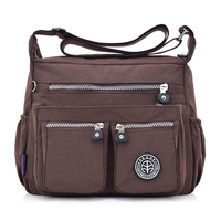 Women Nylon Shoulder Bags Female Solid Zipper Luxury Female Handag Designer Messenger Bags Summer Beach Crossbody