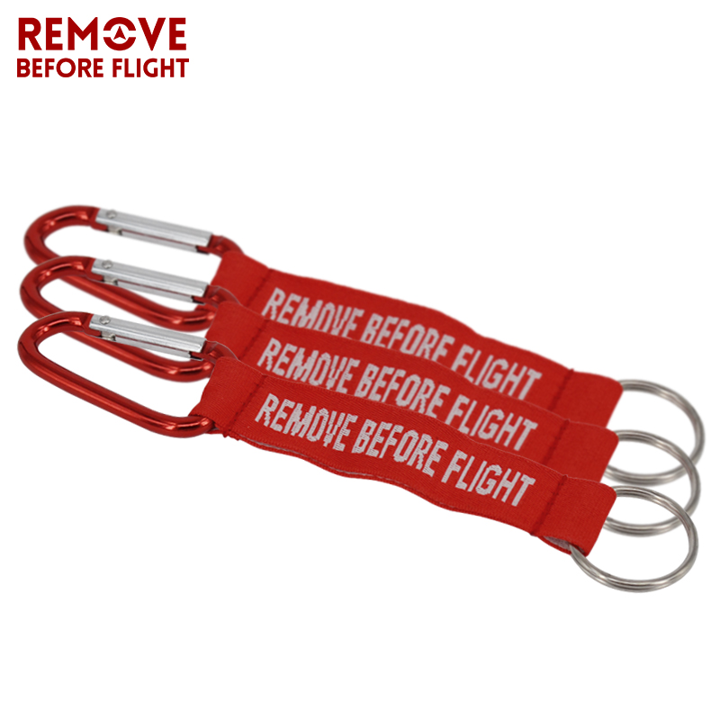 10pcs Remove Before Flight Red Key Chain OEM Keychains Luggage Safety Tag Label for Car Motorcycle Key Ring Aviation Gift Bijoux