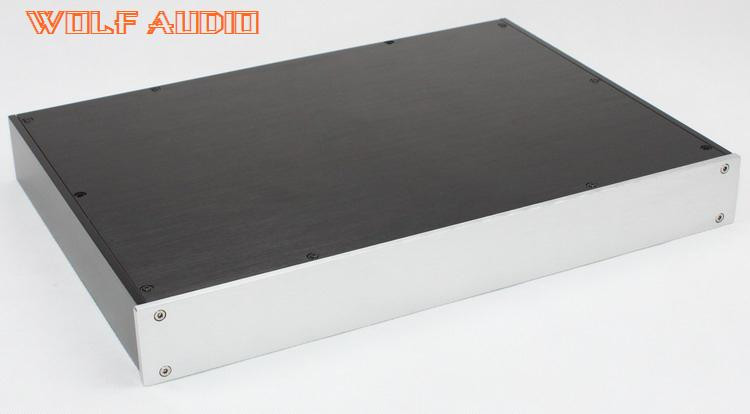 WF1194 Full Aluminum Chassis HIFI Amplifier Enclosure Tube Amp Case Preamp Box 360x430X52mm wa60 full aluminum amplifier enclosure mini amp case preamp box dac chassis