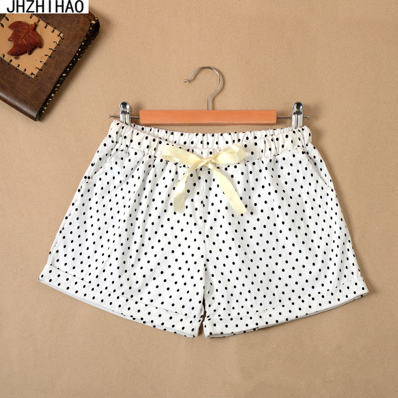 New summer sexy stripe Small dots women   shorts   casual style ladies   shorts   hot sale plus size cotton female   shorts   femininos