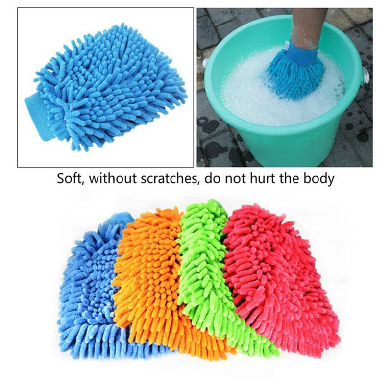 Vehemo автомобили стиральная перчатка для автомойки Толстая перчатка для мытья автомобиля для цвета случайный Дома Чистящие принадлежности для очистки