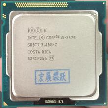 Процессор Intel Core i5-3570 I5 3570(6 Мб кэш-памяти, 3,4 ГГц) LGA1155, настольный компьютер, четырехъядерный процессор