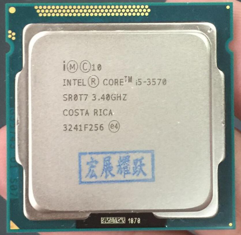 Intel Core i5-3570 I5 procesador 3570 (6M Cache 3,4 GHz) LGA1155 PC ordenador de escritorio CPU de cuatro núcleos CPU