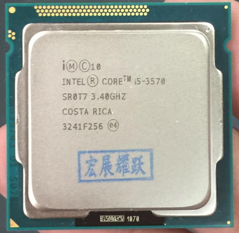Processeur Intel Core i5-3570 I5 3570 (Cache 6 M, 3.4 GHz) ordinateur de bureau LGA1155 CPU Quad-Core