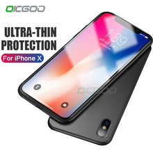 OICGOO Luxury Ultra Thin Silicone Phone Case For iPhone X 10 Soft TPU Matte Back Full Cover Case For iphone X 10 Cases Coque(China)